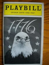 Playbill 1776 Pat Hingle Brent Spiner Linda Emond Paul Michael Valley Guy Paul