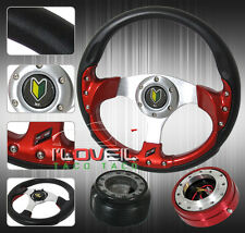 320MM 6 BOLT STEERING WHEEL + REMOVABLE SHORT QUICK RELEASE + HUB ADAPTER +HORN