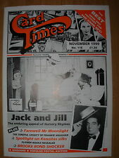 CARD TIMES MAGAZINE FORMERLY CIGARETTE CARD MONTHLY No 116 NOVEMBER 1999