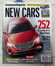 CONSUMER REPORTS November 2016 NEW CARS 2017 Preview 252 EXCLUSIVE RATINGS Model