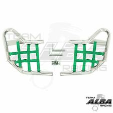 Warrior YFM 350 YFM350  Nerf Bars  Alba Racing  Silver bar Green nets  210 T1SG