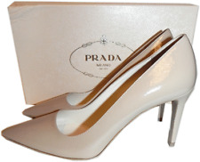 PRADA NUDE Textured Patent Leather Classic Pointy Toe Pump Shoe 36- 6 New