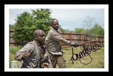 LENNIE JAMES - THE WALKING DEAD AUTOGRAPHED SIGNED & FRAMED PP POSTER PHOTO 1