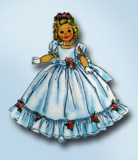 1950s Vintage Simplicity Sewing Pattern 2717 12 Inch Shirley Temple Doll Clothes