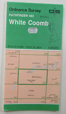 1992 vintage OS Ordnance Survey 1:25000 Pathfinder map 483 White Coomb NT 01/11
