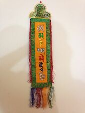 Tibetan OM Mantra silk brocade Gift Door Wall Hanging Thangka