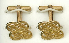 9ct Yellow Gold Celtic Knot Cufflinks Made To Order in Jewellery Quarter B'ham