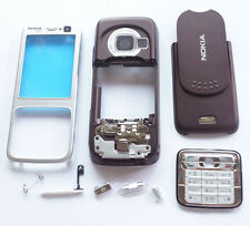 Silve-Purple Cover Housing Case For Nokia N73+Keypad+T6