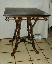 Quartersawn Oak Stick and Ball Parlor Table / Lamp Table  (T402)