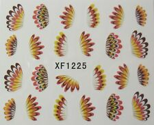 Accessoire ongles : nail art - Stickers autocollants - plumes coiffe indienne
