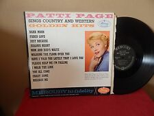 """PATTI PAGE : SINGS COUNTRY AND WESTERN GOLDEN HITS    12""""      33 RPM     LP"""
