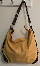 TANO Backstage Boogie Bucket Handbag Yellow and brown leather Anthropologie