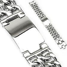 Emeco doble tanques pulsera de acero inoxidable megabreit ssbq - 0788