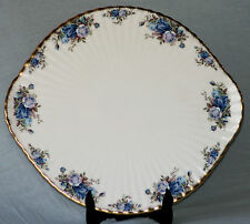 ROYAL ALBERT MOONLIGHT ROSE ROUND FOOTED CAKE GATEAU PLATE NEW UK MADE