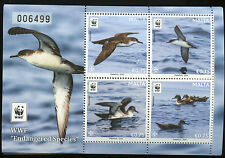 WWF Endangered Birds mnh mini sheet 2016 Malta Great Shearwater seabird