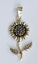 Sterling Silver (925)   Sunflower  Pendant  !!        Brand  New  !!