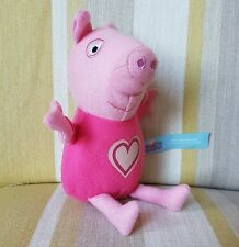 "Peppa Pig with heart 6"" plush soft toy"