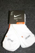 NIKE MENS DRI-FIT COTTON CUSHIONED WHITE NO SHOW SOCKS**8-12**3 PACK