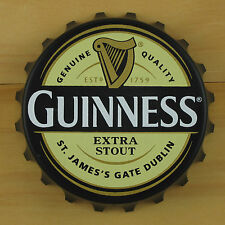 Guinness EXTRA Bottle Opener Fridge Magnet, Cream/Black Pop Off or Twist Off NEW