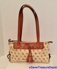 "Dooney & Bourke TASSEL ZIP TOP IT73 WH Multi-Color Signature ""IT"" Shoulder Bag"
