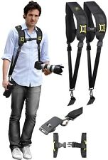 Dual Shoulder-Neck Strap W/Quick Release For Sony HDR-CX440 HDR-CX405 HDR-PJ440