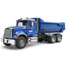 Bruder Mack Granite Halfpipe Kipp-LKW, Baustellenfahrzeug, Modellauto 02823 blau