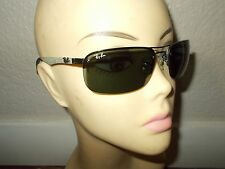 RAY-BAN RB 8310 004/71 Carbon Fibre Frame Green Lenses Sunglasses