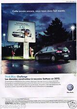 Publicité advertising 2012 VW Volkswagen Golf TDI Bluemotion