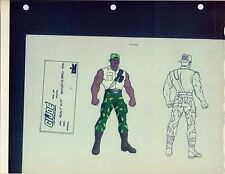 "G.I. GI Joe Heavy Duty Model Cel ""PHOTO"" 80-90's Cartoon 1990 Dic Animation City"