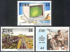 Ireland 1985 Industry/Tractor/Computer/Science/Technology 3v set (n14032)