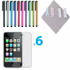 6X Clear Screen Protector Cover Guard Shield for Apple iPhone 3GS 3G