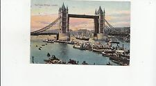 B80116 the tower bridge london ship bateaux   united kingdom front/back image