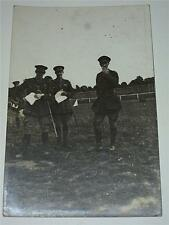 POST WW1, WWI  MILITARY RP POSTCARD - GROUP OF SOLDIERS, OFFICERS IN CAMP c1920!