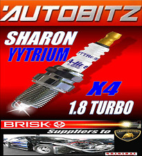 FITS VW SHARON 1.8 TURBO BRISK SPARK PLUGS X4 100KGUARANTEE YYTRIUM