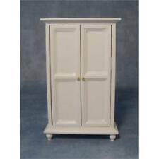 12th Scale White Wardrobe For Dolls Houses
