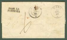 PIEMONTE. BUBBIO doppio cerchio nero. Lettera del 22.6.1850 da Cessole.......