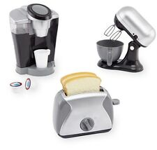 New Pretend Kitchen Appliance Set Realistic Coffee Maker Mixer Toaster Lot Play