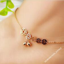 14K Gold Armkette Echt Schmuck Fußkette Münze Damen Gelbgold Bracelet FERANI 29€