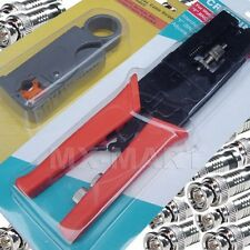 COMPRESSION TOOL F RCA BNC CONNECTOR RG6 CABLE STRIPPER