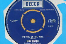 """JOHN MAYALL ~ PICTURE ON THE WALL ~ JENNY ~ UK DECCA 7"""" 1968 ~ TOP COPY"""