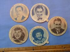 Sealtest Ice Cream Cup Lids with Movie Star Pictures and Title Of Movie 1950