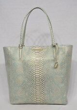 NWT! Brahmin Harrison Tote in Opal Seville Snake Embossed. Beautiful Leather