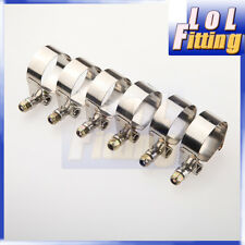 "6PCS 1.75"" inch Turbo Pipe Hose Coupler T-bolt Clamp Stainless Steel 47/55mm"