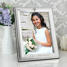 Personalised Silver Photo Frame - Christening Gift Idea Baptism Free Engraving