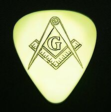 MASONIC SYMBOL - Solid Brass Guitar Pick, Acoustic, Electric, Bass