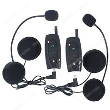 2×BT interphone bluetooth motocicleta intercomunicador para casco motocicleta