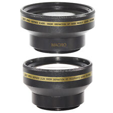 30mm 0.43x Wide Angle,Macro,2X Telephoto Lens Kit for Sony HDR CX150 CX110 CX100