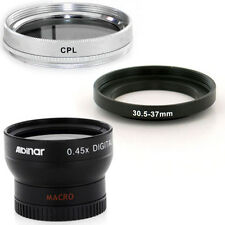 Albinar 30.5mm Wide Angle Lens,CPL Filter for JVC Everio GZ-HD300 Camcorder NEW