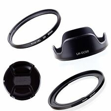Adapter Ring+Lens Cap+Hood+UV Filter For 67mm Canon Powershot SX40 HS SX50