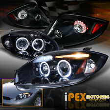 06-11 Eclipse Projector [Black W/ Smoked Lens] Halo Headlights & LED Tail Lights